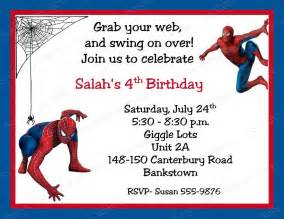 spiderman birthday invitations personalized free