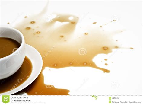 Spilled Coffee On by Spilled Coffee Stock Photo Image 44715782