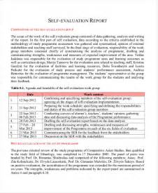 Sample Employee Performance Report Sample Employee Self Evaluation Form 8 Free Documents