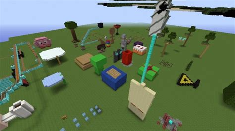 theme park popularmmos popularmmos theme park minecraft project