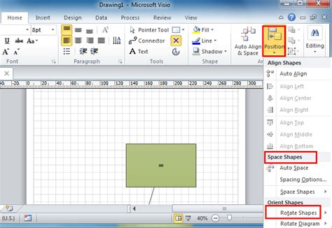 visio rotate page where is shape menu in microsoft visio 2010 2013 and 2016