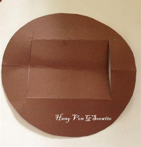 Cetakan Coklat Bentuk Pensil pojok utak atik membuat kartu timbul pop up
