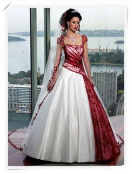 extravagante bruidsjurk gekleurd met bloemen trouwjurk rood
