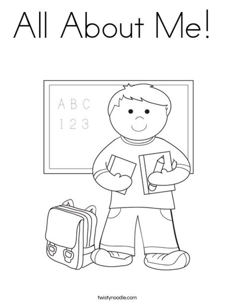 Preschool Coloring Pages All About Me | all about me coloring page twisty noodle