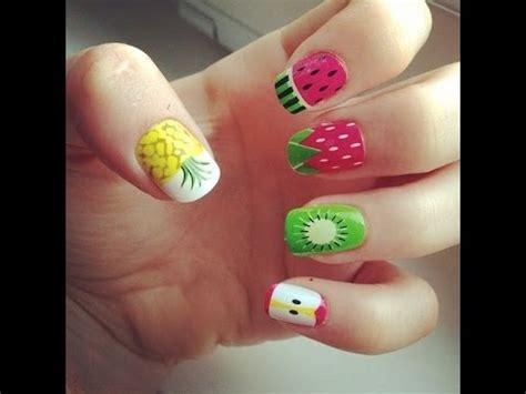 imagenes para pintar las uñas como hacer dise 241 os frutales en tus u 241 as primavera