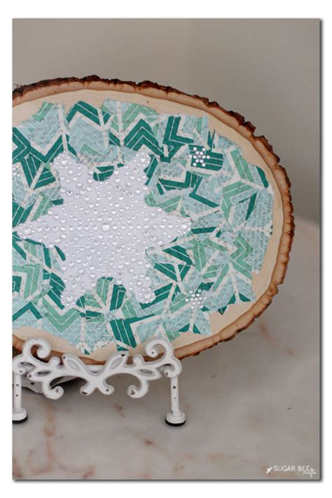 decoupage wood slice sugar bee crafts