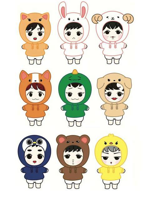 Sum Exo Kokobop Sticker Set pin by bridgette wong on exo fanart stickers