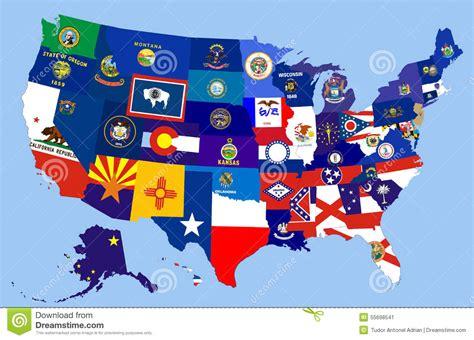us map oregon state carte de drapeau d 233 tats des etats unis illustration stock image 55698541