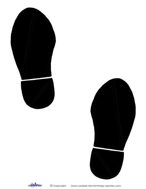 printable black footprints