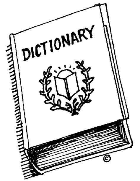 Vocabulary Black And White Clipart