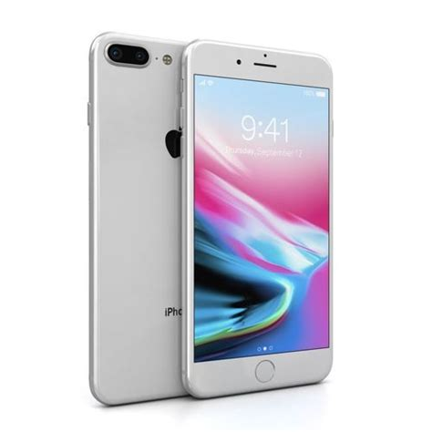 apple iphone   silver  asset cgtrader