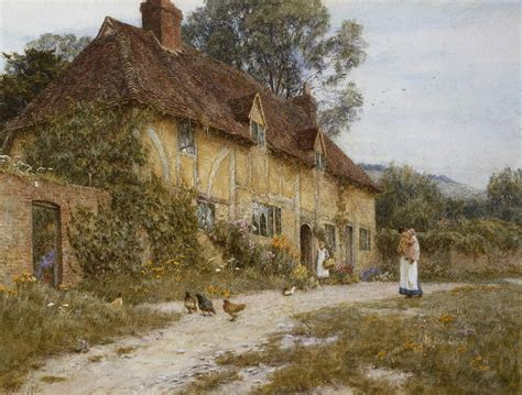 paintings of cottages kentish cottage painting by helen allingham