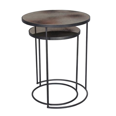 side table buy notre monde nesting side table set bronze amara