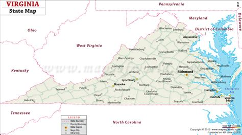 usa virginia map virginia state map