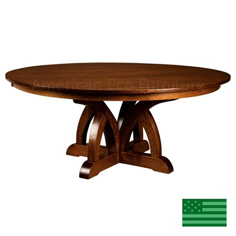 Dining Table Made In Usa Amish Solid Wood Heirloom Furniture Made In Usa Brentwood Pedestal Dining Table American
