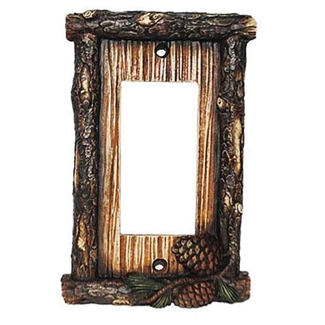 decorative switch wall plates pine cone decorative switch wall plate single rocker switch