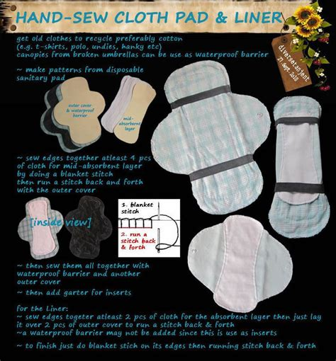 Handmade Sanitary Pads - sew cloth pad liner sewn you ve and sewing