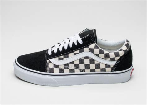 pattern old skool vans vans old skool checkerboard black espresso asphaltgold