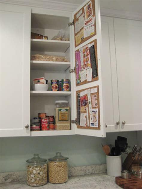 kitchen bulletin board ideas 20 back of door storage ideas