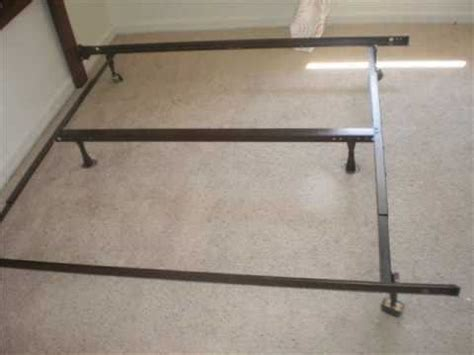 how to put a bed frame together how to piece together a king frame youtube