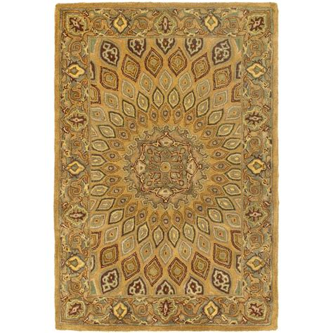 kitchen rugs 6ft safavieh heritage light brown grey 4 ft x 6 ft area rug hg914a 4 the home depot