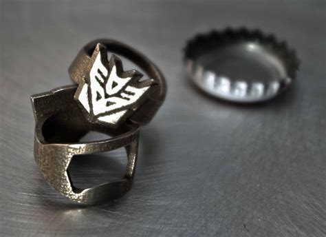 Bottle Opener Ring 3d printed batman superman rebel alliance more bottle