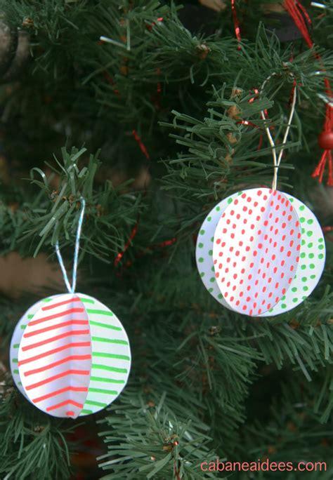 Fabriquer Boule De Noel by Comment Fabriquer Des Boules De No 235 L 3d En Papier Cabane