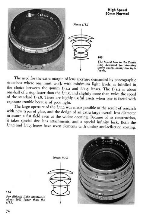 high speed canon canon high speeds photographic lens design