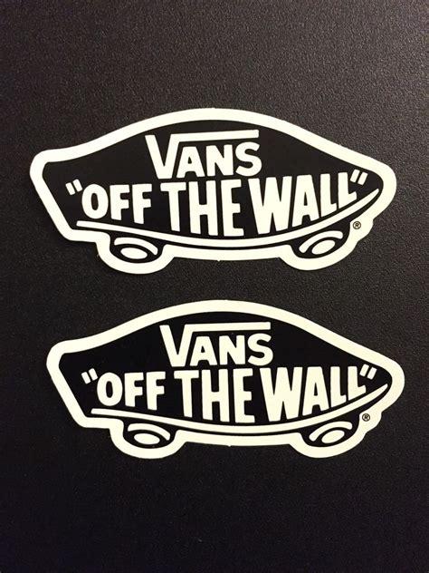 vans the wall sticker vans the wall skate snow surf sticker classic logo decal waffle skateboard 2 ebay
