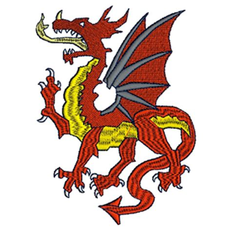 embroidery design dragon welsh dragon machine embroidery designs