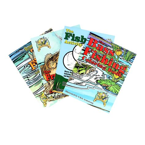 reel chance fish tales books top brass tackle tackle fishing coloring book assortment