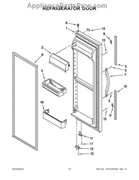 Refrigerator Door Replacement Parts by Parts For Whirlpool Ed2vhexvb01 Refrigerator Door Parts
