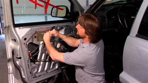 auto repair maintenance installing  manual window regulator youtube