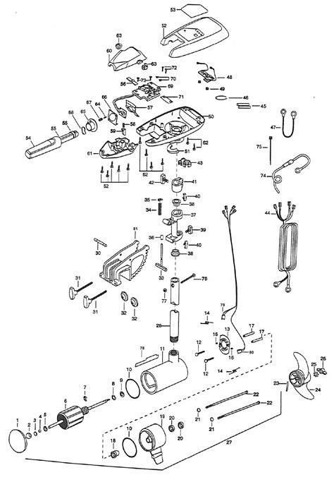 minn kota maxxum 80 parts diagram minn kota power drive