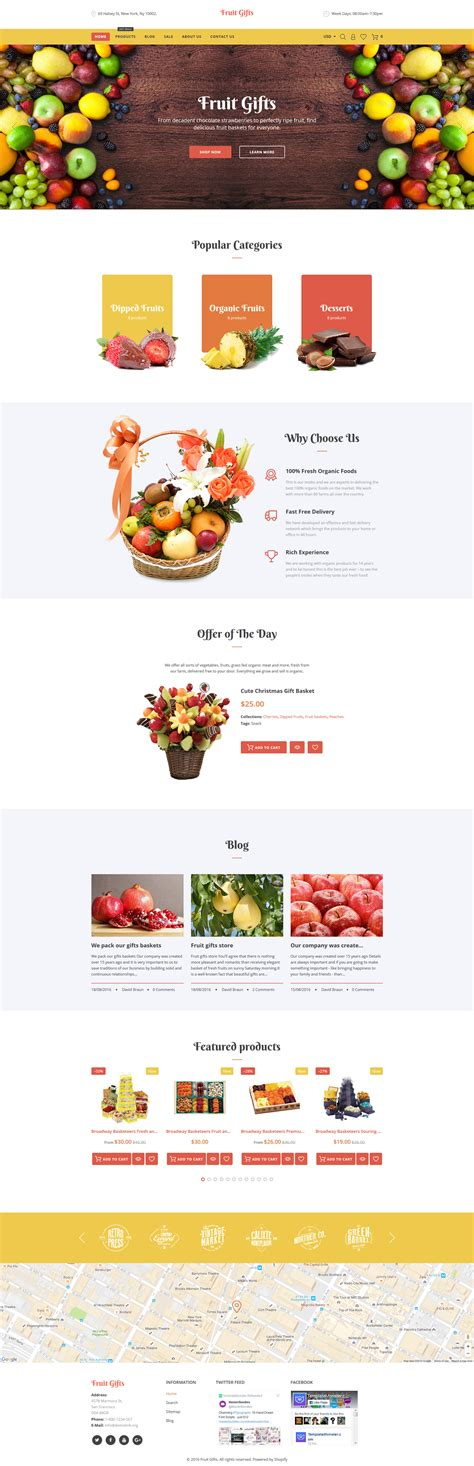 shopify themes gifts fruit baskets shopify theme