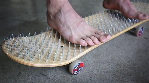 skateboard bed bed of nails skateboard blood alert you make it we