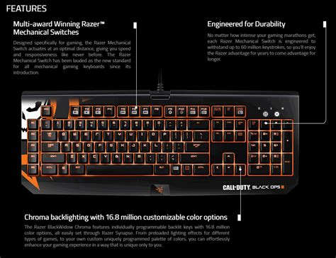 Razer Blackwidow Chroma Call Of Duty Black Ops Iii Edition K call of duty black ops iii razer blackwidow chroma clicky mechanical gaming keyboard mobile