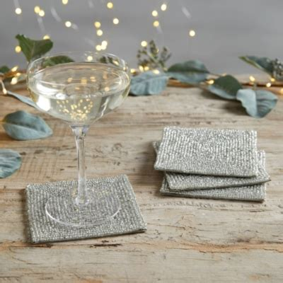 glass beaded coasters glass beaded coasters set of 4 home accessories sale