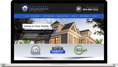 professional home inspection web design