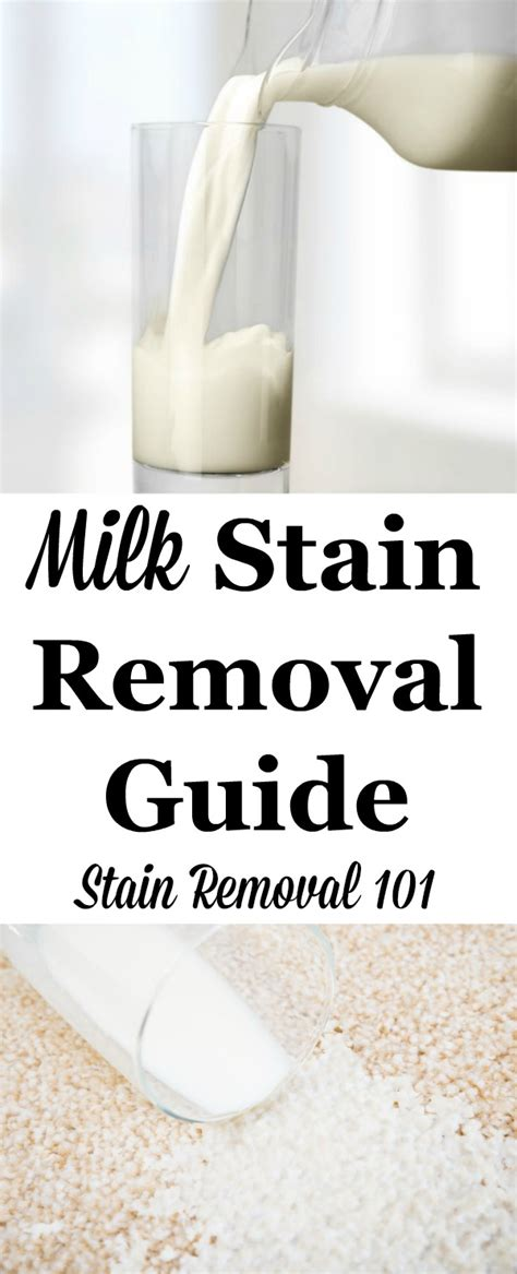 how to remove milk stains