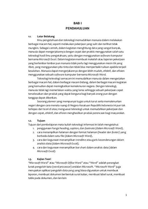 urutan membuat laporan hasil praktikum laporan praktikum ti semester 1 microsoft word dan excel