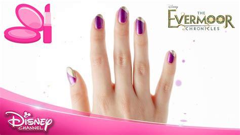 nail art tutorial disney channel the evermoor chronicles nail art tutorial bella