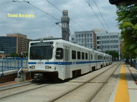 Md Light Rail by The Baltimore Light Rail System