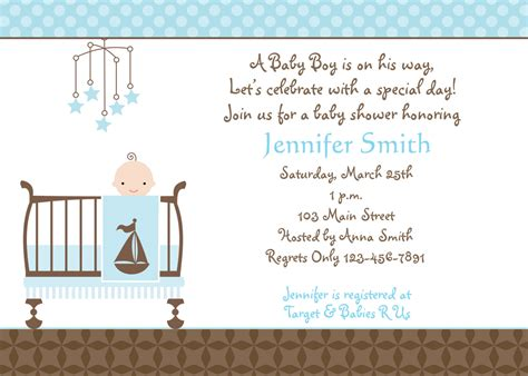 Baby Boy Shower Invitation by Free Baby Boy Shower Invitations Templates Baby Boy