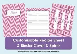 printable recipe book template printable recipe sheet template recipe card recipe binder