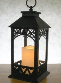decorative lanterns black lantern with led pillar candle