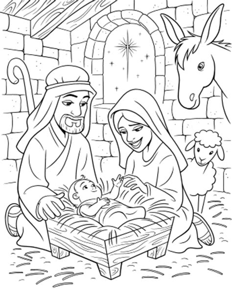 jesus is born nativity coloring page life s journey to perfection 2016 lds sharing time ideas