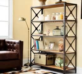 Iron Bookshelves American Country Wrought Iron Wood Bookcase Shelf Retro