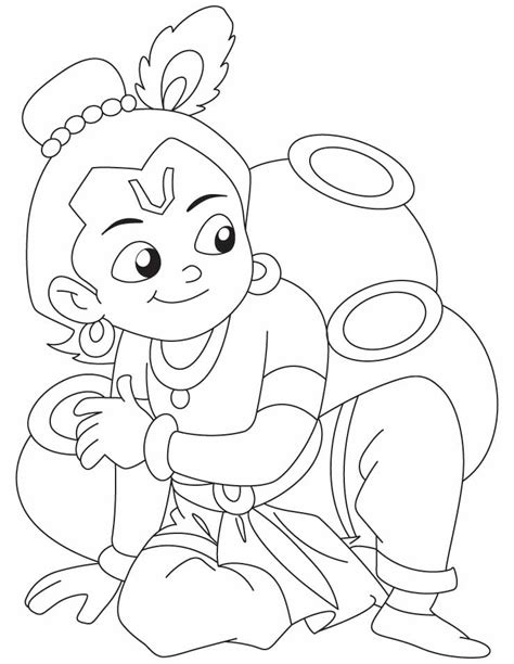free coloring pages of chota bheem aur krishna