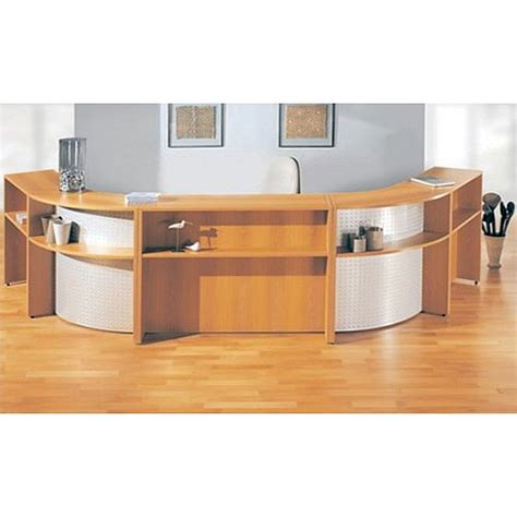 Large Reception Desks Large Cherry Silver Reception Unit Buronomic Rd18 Huntoffice Ie